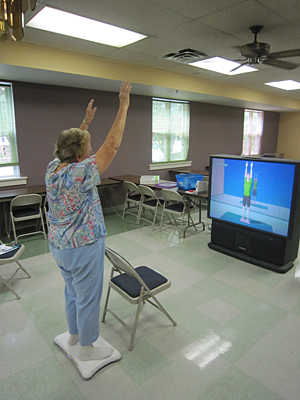 Using the Wii Fit for balance excercise