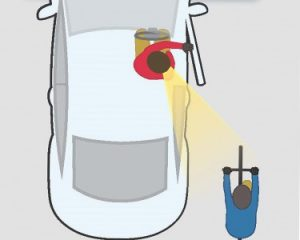 Car occupants open the door with the hand furthest from the door.